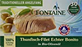 Fontaine Thunfisch-Echter Bonito in Bio Olivenöl Fischkonserve, 1er Pack (1 x 120 g - 90 g Fisch)
