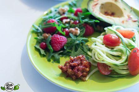 low-carb-Zucchini-Salat